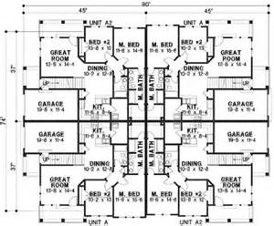 family floor plans plan 18511wb 8 unit house plan with corner decks 2nd floor home design and home