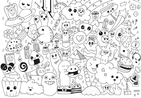 dibujos de kawaii  colorear colorearcom