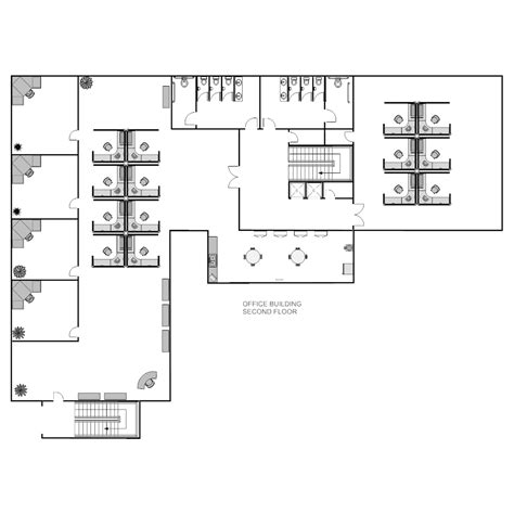 Building Layout Diagram by Office Layout