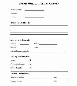 6 sample credit notes sample templates With credit note template doc