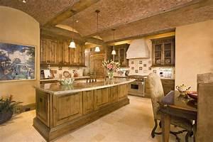 Hacienda-style kitchen - Mediterranean - Kitchen - houston