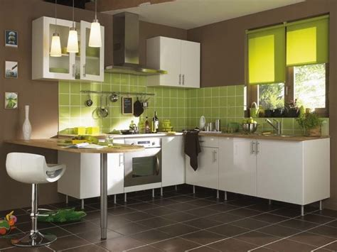 deco cuisine vert decoration cuisine vert et blanc