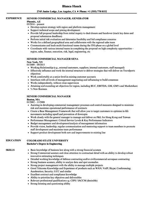 Commercial Manager Resume Talktomartyb