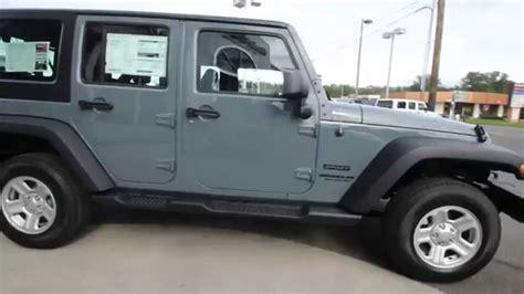jeep wrangler unlimited sport anvil gray el