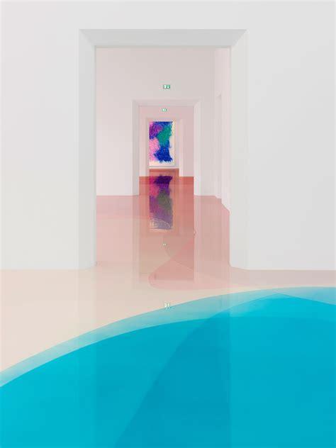 Artist Peter Zimmermann Covers Exhibition Floor in
