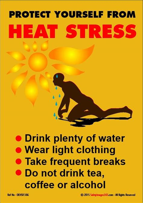 dehydration safety poster protect   heat