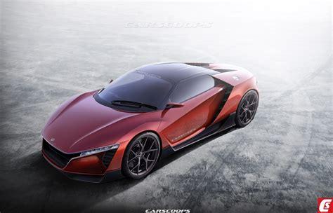 future cars hondas baby nsx   porsche cayman