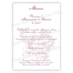carte mariage original menu mariage original carte