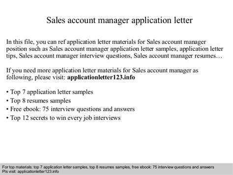 letter of understanding sales account manager application letter 10125