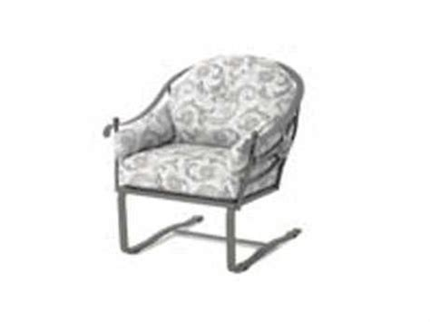 meadowcraft wrought iron club chair replacement