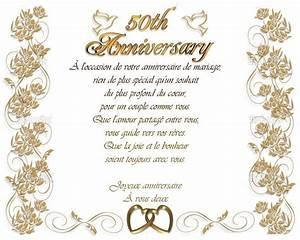Faire Part Anniversaire 50 Ans : carte invitation anniversaire 50 ans de mariage gratuite a ~ Edinachiropracticcenter.com Idées de Décoration