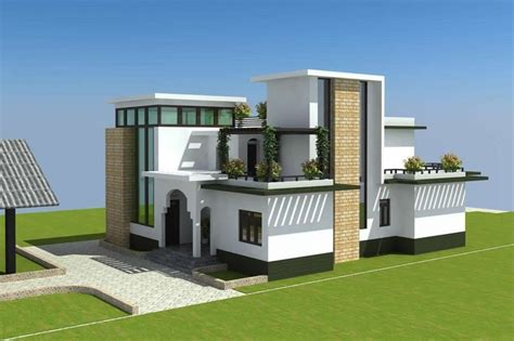 modern duplex house plans that look like single family