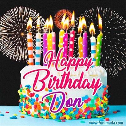 Don Birthday Happy Cake Funimada Gifs Fireworks