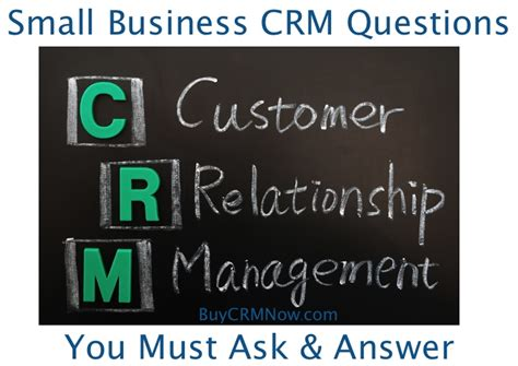 small business questions and answers small business crm