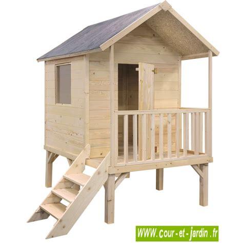 cabane de jardin enfant maisonnette en bois sur pilotis cabane de jardin enfants