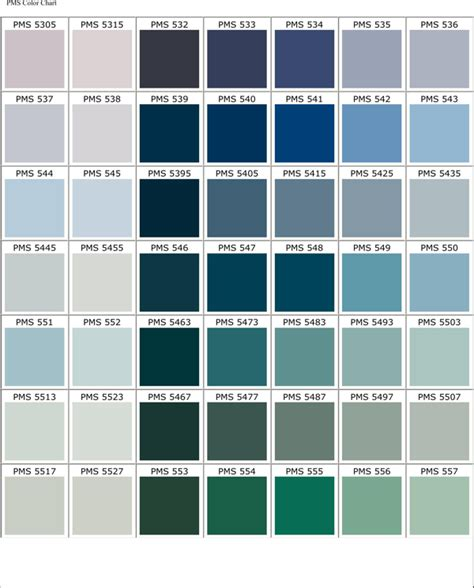 Free Pantone Matching System Color Chart For Pdf Page 15