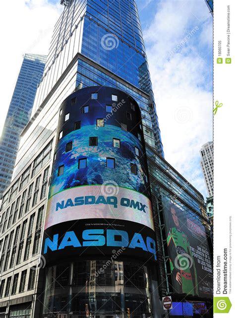 nasdaq headquarters editorial image image