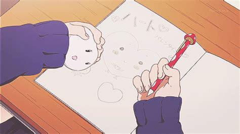 tamako market notebook gif wifflegif