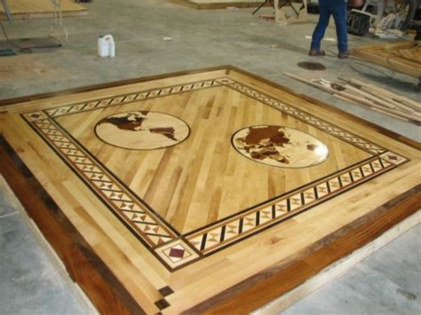 wood floor inlays medallions Milwaukee 4   My Affordable
