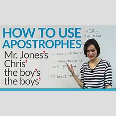 How To Use Apostrophes In English Youtube