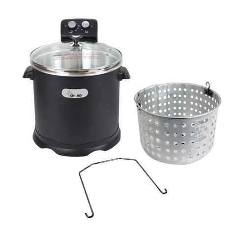 fryer turkey electric chard deep edf fryers cookers outdoor quart fried watts 1700 accessories parts