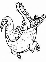 Crocodile Coloring Pages Alligator Baby Cute Animals Printable Sheet Drawing Colorings Getcolorings Getdrawings Clipartmag sketch template