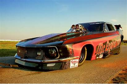 Ford Racing Funny Drag Mustang Race Rod