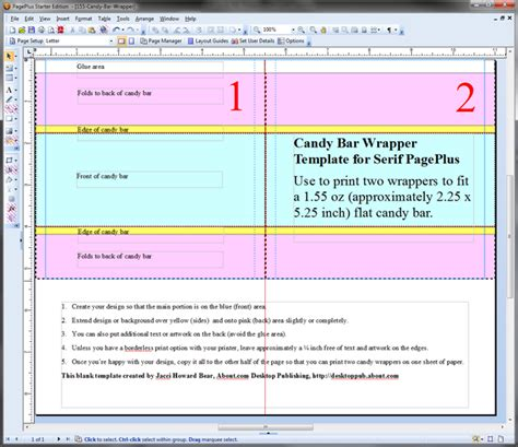 mini candy bar wrappers template