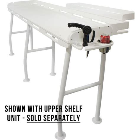 aluminum fish cleaning table extra large fish cleaning station 96 x 21 boat outfitters