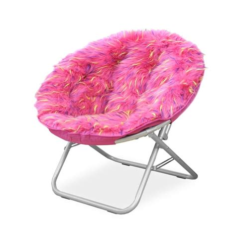Childrens Saucer Chair Uk by Spiker Pink Faux Fur And Metal Frame Saucer Chair Free