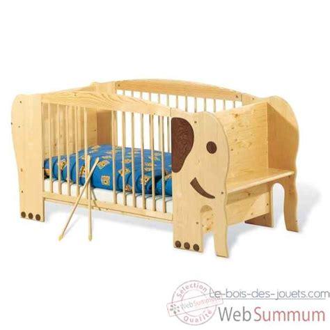 deco chambre basket lit d 39 enfant éléphant 39 jumbo 39 140 x 70 cm pinolino 111303