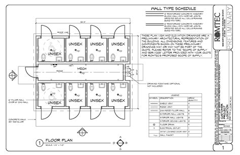 public toilet design plans in populated area standard restrooms romtec inc