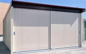 garages metalliques simple double avec auvent a vous With porte de garage coulissante sur mesure