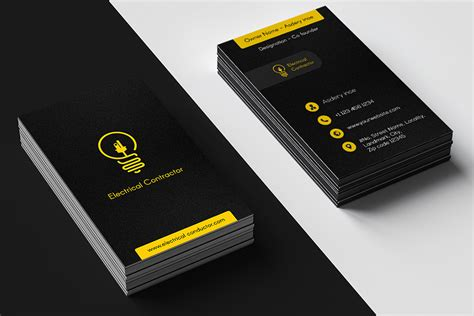 top  electrician business cards    web