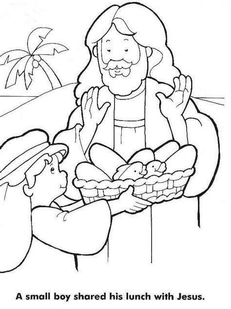 Coloring Pages Jesus Feeds 5000 Az