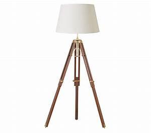 endon tripod floor lamp sheesham wood brass finish With brass tripod floor lamp uk