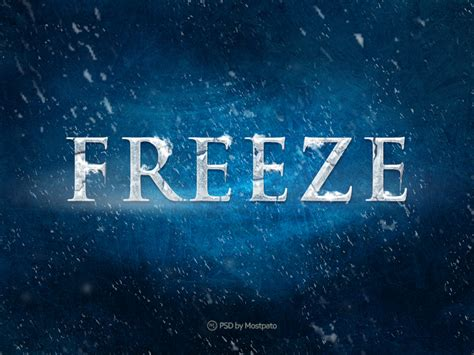 how to freeze psd freeze text effect by mostpato on deviantart