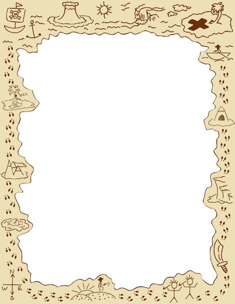 Treasure Map Page Border