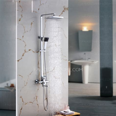 Quality Bathroom Fixtures by Quality Brass Chrome Square Shaped Shower Fixture For