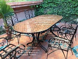 Table Fer Forgé Jardin : table jardin en fer forg l 39 habis ~ Teatrodelosmanantiales.com Idées de Décoration
