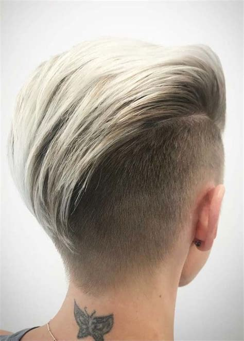 charming slicked  undercut short haircuts