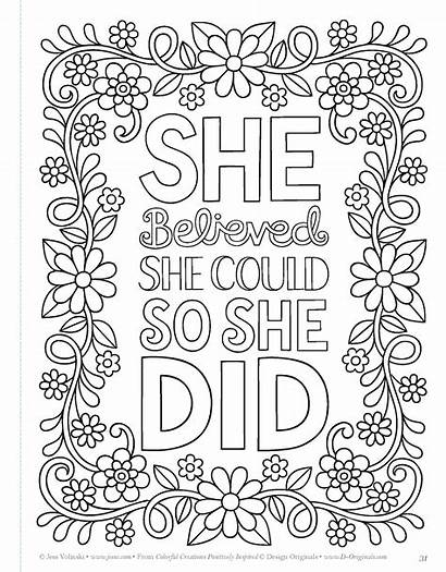 Coloring Pages Mandala Quote Quotes Adult Printable