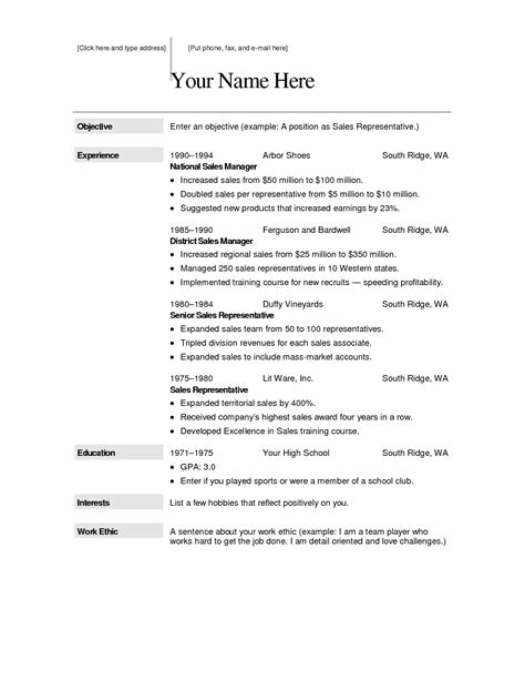 Free Sle Resume Format by Free Creative Resume Templates For Macfree Creative Resume