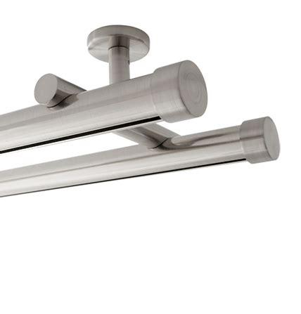 8 aria metal h rail double ceiling mount traverse rod kit