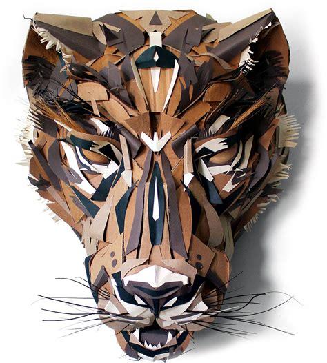 cardboard forest cardboard sculpture cardboard art
