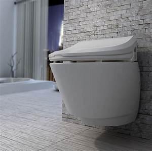 Bidet Toilette Kombination : nic6000 electronic bidet seat and wall hung toilet ~ Michelbontemps.com Haus und Dekorationen