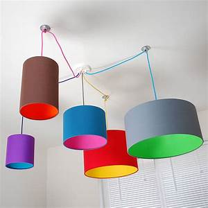 Pick and mix drum lampshade choice of colours by quirk for Floor lamp with different color shades
