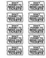 Printable Tickets Sheets Carnival Ticket Coloring Circus Printablee Via sketch template