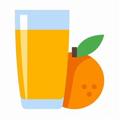 Juice Orange Clipart Fruit Icon Drink Ice