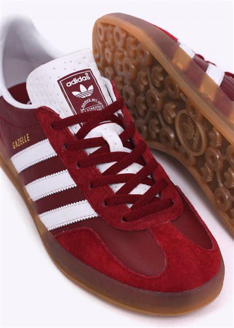 Adidas Originals Gazelle Indoor Trainers  Rust Red White